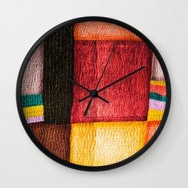 Red Sashiko Wall Clock