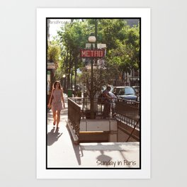 Photo: Sunday in Paris (21 July 2013) Art Print