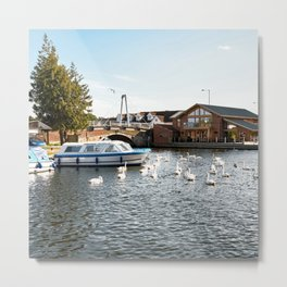 The village of Wroxham on the River Bure Metal Print