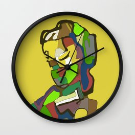Woman with scarf Wall Clock