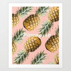 Pineapple loving Art Print