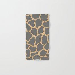 Safari Giraffe Print - Gray & Beige Hand & Bath Towel