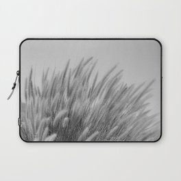 Foxtails on a Hill in Black and White Laptop Sleeve