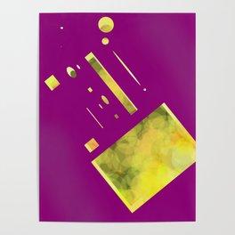 purple yellow Poster