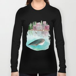 A whale is passing by Long Sleeve T-shirt