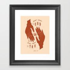 11/52: James 4:8  Framed Art Print