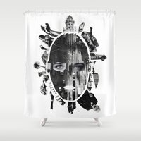 metropolis Shower Curtains featuring Metropolis by DLS Design