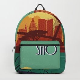 Sao Paulo vintage poster travel Backpack