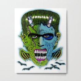 Franken Bat Metal Print