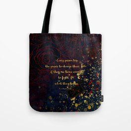 Carval (Fight for what they desire) Tote Bag