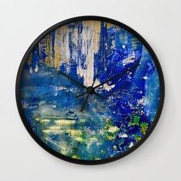 Mirror Of Life - Original Art Canvas Painting by Jacob von Sternberg aka Anutu Wall Clock