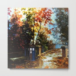 Tardis Waiting Metal Print