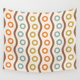 Mid Century Modern Rising Bubbles Pattern 102 Wall Tapestry