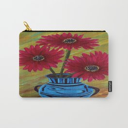Blue vase with flowers/ still life  Carry-All Pouch