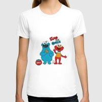 elmo T-shirts featuring Elmo & Cookie Fan Art by gabriela