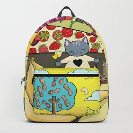 Cats in the Land of Fruits and Nuts Backpack