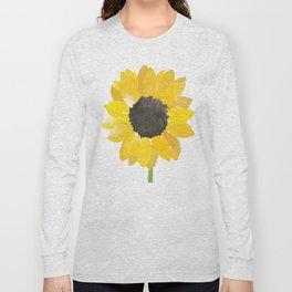 Watercolor Sunflower Long Sleeve T-shirt
