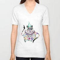 vogue V-neck T-shirts featuring Vogue by Tania Orozco