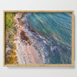 Ocean Reef Beach Aerial Serving Tray