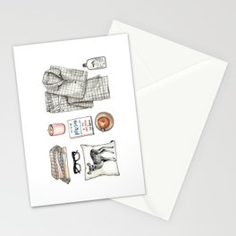 fashion. pajamas day Stationery Cards