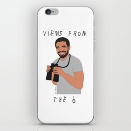 Views From The 6 // Drake Print  iPhone Skin