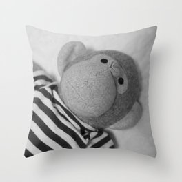 .Mr.monkeysock. Throw Pillow