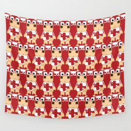 Super cute cartoon cow in red - a moo-st have design for  cow enthusiasts! Wall Tapestry