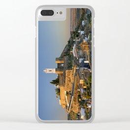 Monsaraz panoramic dawn Clear iPhone Case