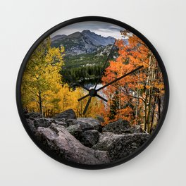Rocky Mountain Aspens Wall Clock