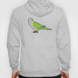 Pixel / 8-bit Parrot: Green Quaker Parrot Hoody