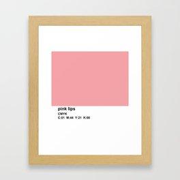 pantone inspired, CMYK, pink Framed Art Print