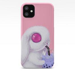 Bunny Loves Bubble Tea iPhone Case
