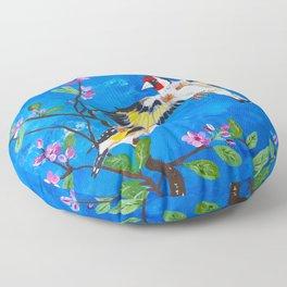 Goldfinches Floor Pillow