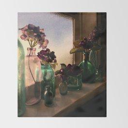 Flower Sill Throw Blanket