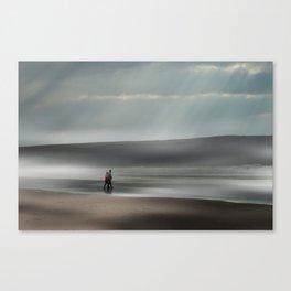 Misty walk Canvas Print