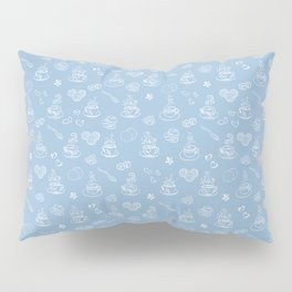 Tea time airy blue Pillow Sham