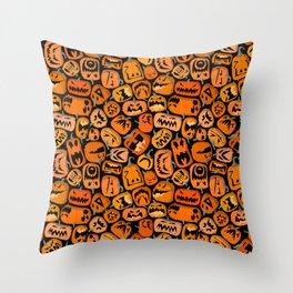 Pumpkin Brawl. Throw Pillow