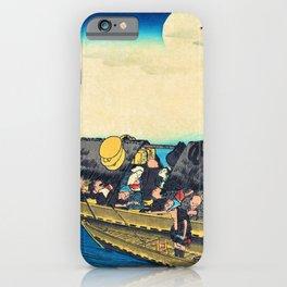 Utagawa Hiroshige - Famous Views Of Kyoto - Yodogawa iPhone Case