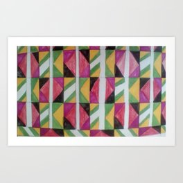 Abstract pattern red Art Print