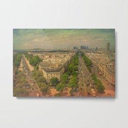 Avenue De Champs Elysees in Paris Metal Print