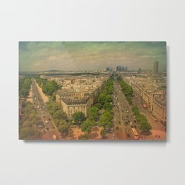 Avenue De Champs Elysees in Paris Metal Print