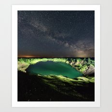 Solstice Nightfall Art Print