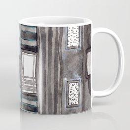 Gray Facade with Lighted Windows Coffee Mug