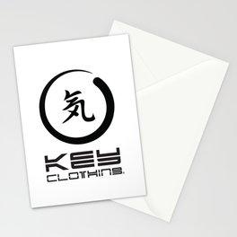 Key Clothing Canada Kanji Brushstroke Black Logo Stationery Cards