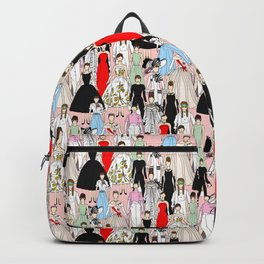 Outfits of Audrey Hepburn Fashion (White) Backpack