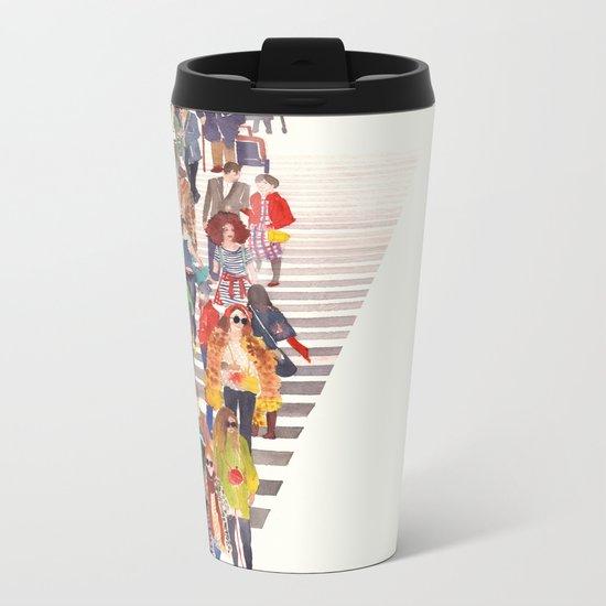 Zebra crossing Metal Travel Mug