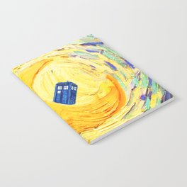Tardis Flying With Circle Notebook