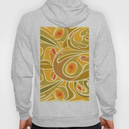 Rooster pattern in Yellow Goldenrod Hoody
