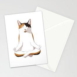 Yoga Calico Cat Gift Idea Stationery Cards