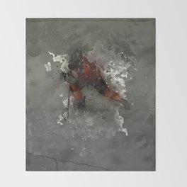 On Ice - Ice Hockey Player Modern Art Throw Blanket